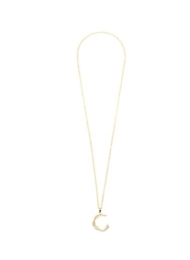 Stylish Accessories Stylish Accessories Harf Gold Kolye Renksiz